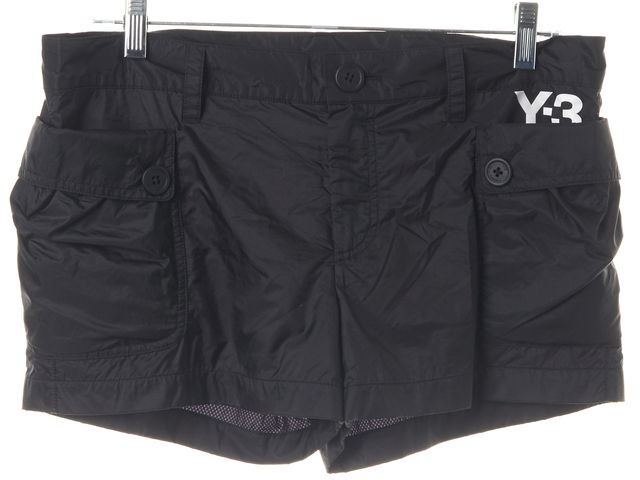 ADIDAS Y-3 Black White Athletic Short Shorts