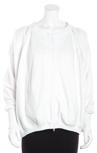 ADIDAS Y-3 White Dolman Back Pleat Jacket
