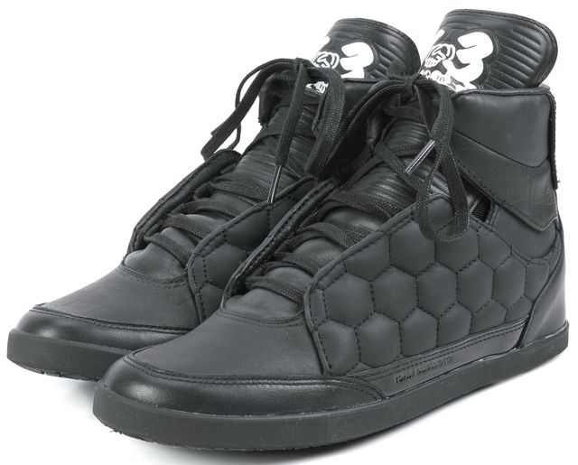 ADIDAS Y-3 Black Leather World Cup Honja High Sneakers