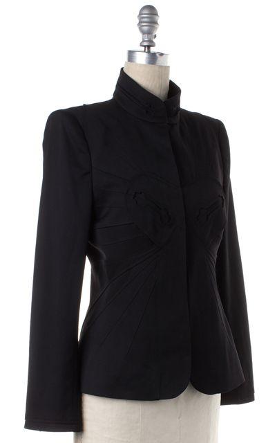 ZAC POSEN Black Wool Blend Jacket