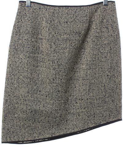ZERO + MARIA CORNEJO Beige Black Tweed Asymmetrical Skirt