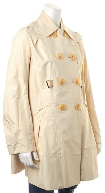 ZERO + MARIA CORNEJO Ivory Cotton Double Breasted Trench Jacket