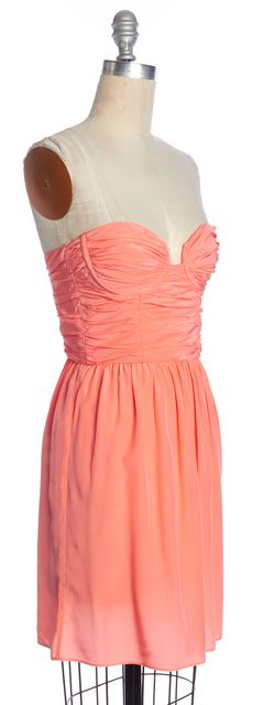 ZIMMERMANN Pink Peach Silk Fit & Flare Strapless Dress