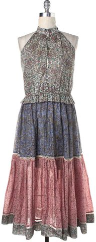 ZIMMERMANN Multi-color Floral Sleeveless Peasant Fit Flare Dress