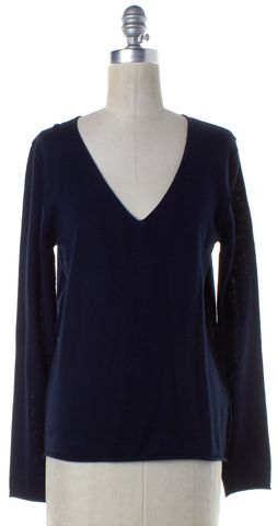 ZADIG & VOLTAIRE Navy Blue Embellished Wool Knit Top