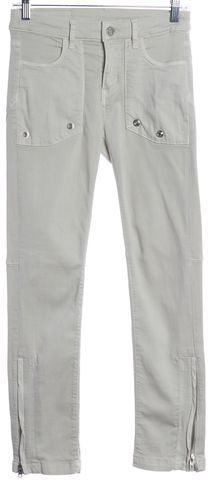 ZADIG & VOLTAIRE Light Gray Ankle Zip Skinny Jeans