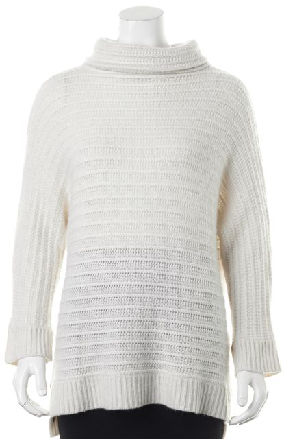 ZADIG & VOLTAIRE White Cashmere Turtleneck Sweater Size