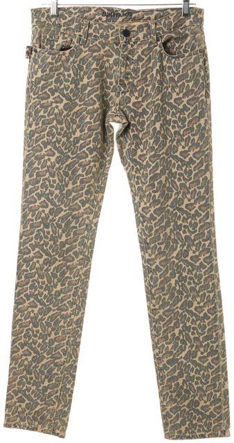 ZADIG & VOLTAIRE Beige Leopard Print Five Pocket Straight Leg Jeans