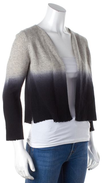 ZADIG & VOLTAIRE Gray to Black Ombre Open Front Cashmere Cardigan Sweater